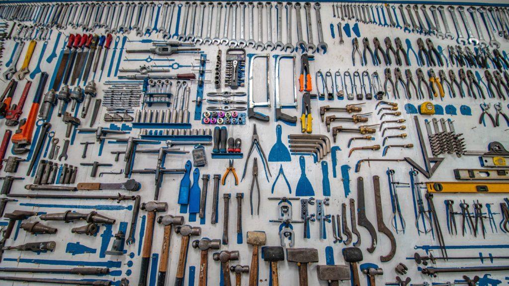 Bild von sortiertem Werkzeug